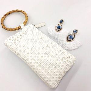 Last 1! Bamboo Ring Handle bag - {Street Level}